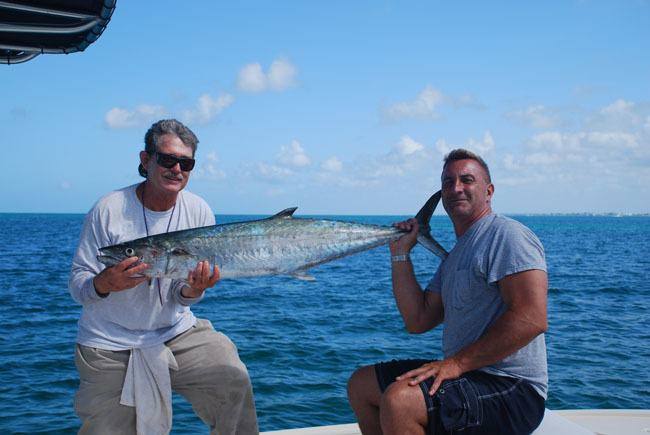 Two Men Holding King Mackerel, Boca Grande