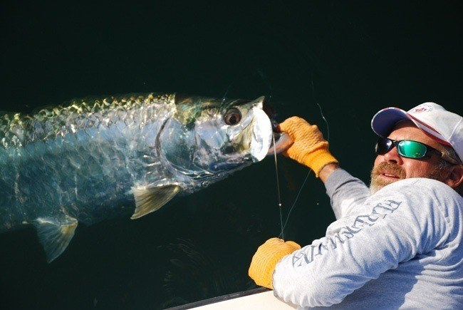 Captain Greg with Tarpon